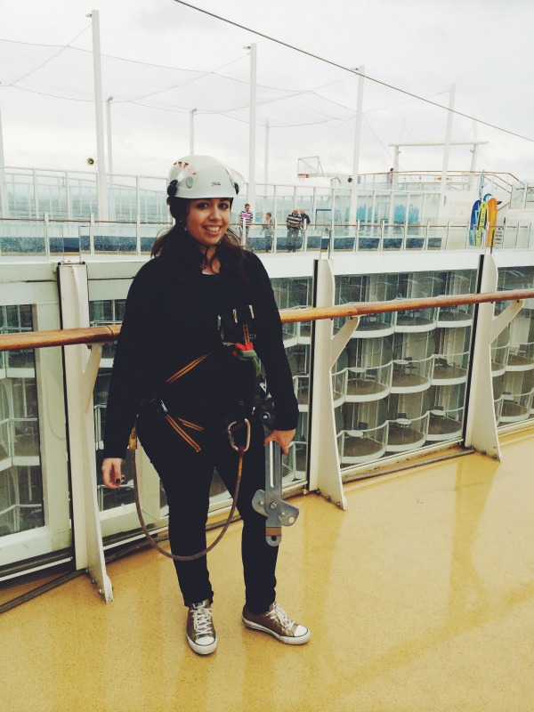 Zip Line on-board the Oasis of the Seas