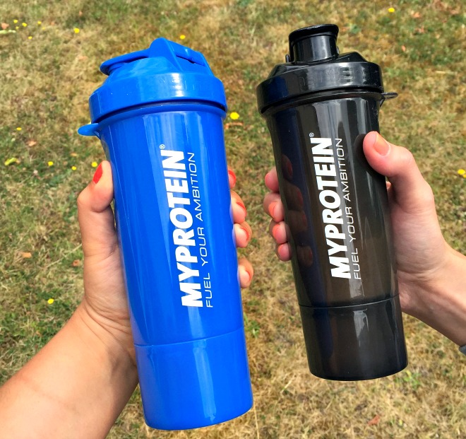 My Protein on the go with Smartshake Slim Shaker